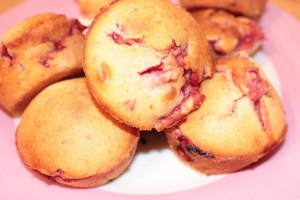 Рецепт                  Кексы с клубникой