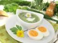 Суп-пюре из щавеля с плавленым сыром