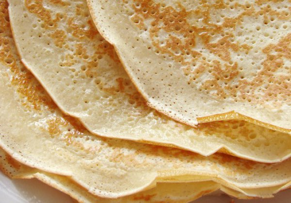 Рецепт                  Постные блины на завтрак
