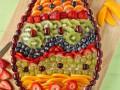 Как приготовить фруктовую пиццу в виде пасхального яйца
