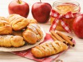 Косичка из слоеного теста с яблоками