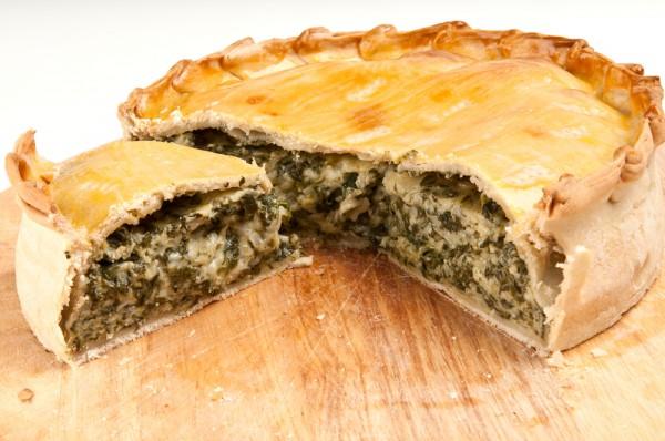 Рецепт                  Пирог с творогом и шпинатом