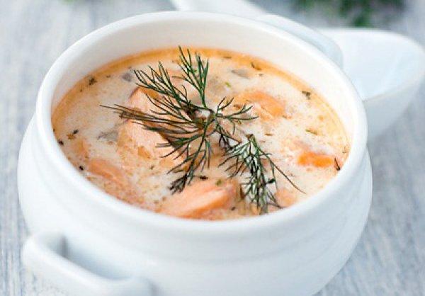 Рецепт                  Финский сливочный суп с лососем