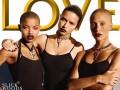 Новое поколение: Адриана Лима и Слик Вудс попали на обложку LOVE