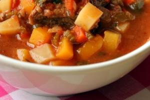 Суп с мясом, тыквой и перловкой