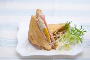 Французский сэндвич Крок Мадам
