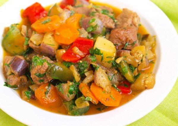 Рецепт                  Рагу из телятины с овощами