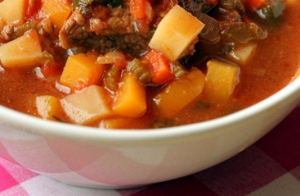 Рецепт                  Осенний суп с говядиной и тыквой