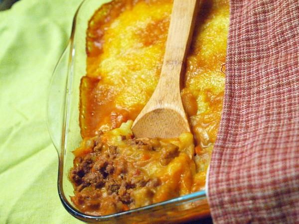 Рецепт                  Мясная запеканка с картофелем и овощами