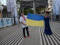 Потап и Настя на Новой волне вышли к журналистам с украинским флагом