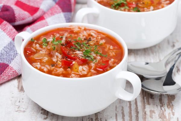 Рецепт                  Томатный суп с рисом