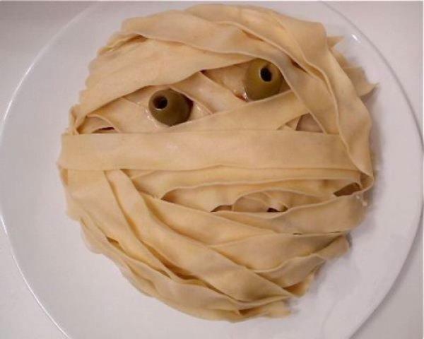 Рецепт                  Закуска Голова мумии на Хэллоуин
