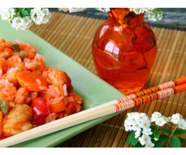 Рецепт                  Курица в кисло-сладком соусе