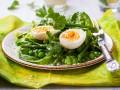 Пасхальные рецепты: Зеленый салат с яйцом