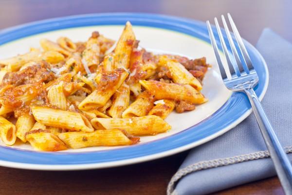 Рецепт                  Паста болоньезе с кабачками и баклажанами