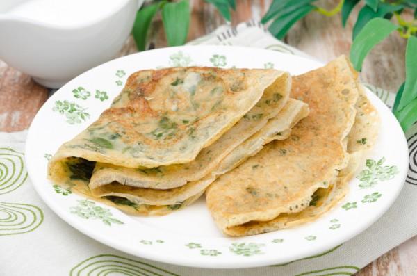 Рецепт                  Масленица 2015: Блины со шпинатом