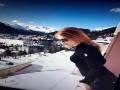 В Сеть попали фото Фреймут на отдыхе в швейцарских Альпах