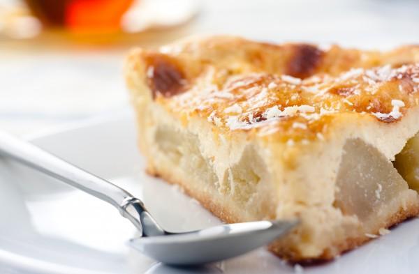 Рецепт                  Творожная запеканка с яблоками