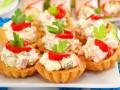 Салаты на Новый год: Куриный салат в корзинках