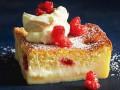 Магический торт с лимоном и малиной