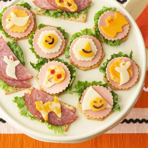Рецепт                  Идеи для Хэллоуина: Праздничные канапе