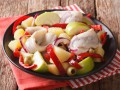 Салат из сельди с яблоком