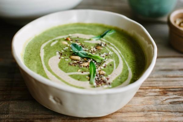 Суп из брокколи с мятой от Джейми Оливера