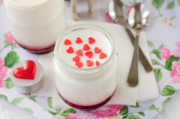 Рецепт                  Рецепты на День Валентина: Малиновая панна котта