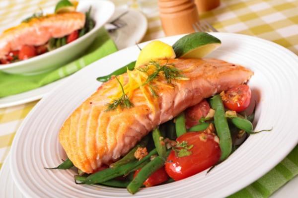лосось в духовке с овощами фото