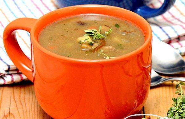 Рецепт                  Грибной суп с тимьяном