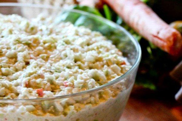 Рецепт                  Слоеный зимний салат с чипсами