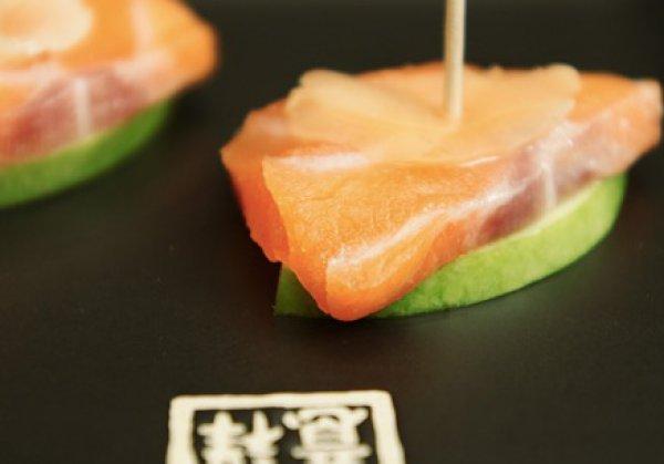 Рецепт                  Лосось с зеленым яблоком