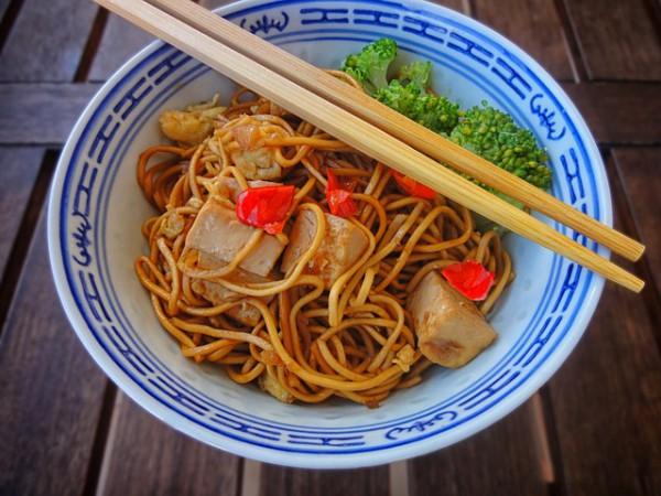 рецепты китайские говядина с лапшой