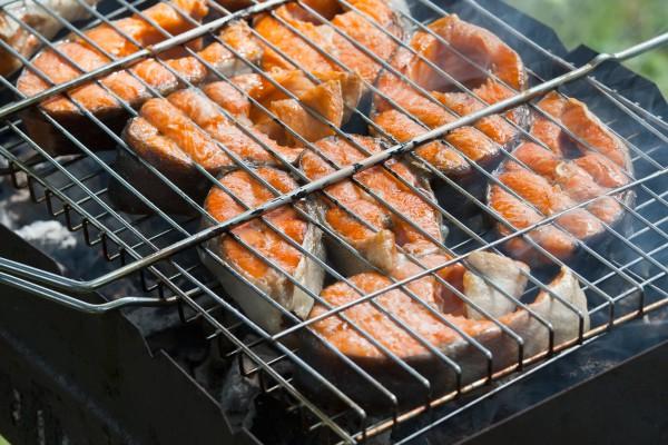 Рецепт                  Стейк из лосося на гриле