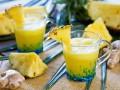 Шипучий ананасовый коктейль