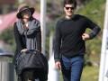 Миранда Керр и Орландо Блум на прогулке с сыном