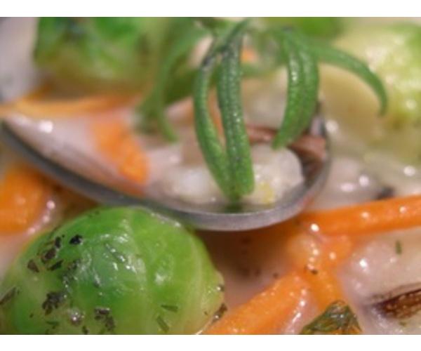 Рецепт                  Суп с брюссельской капустой