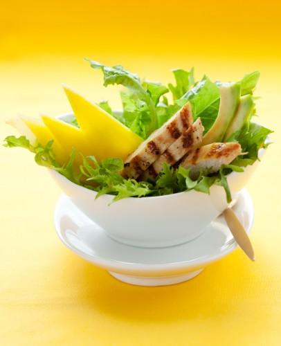 Рецепт                  Новогодний салат из курицы с манго и авокадо