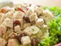 Праздничный салат из курицы с виноградом