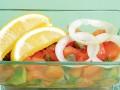 Cалат из соленой рыбы с овощами