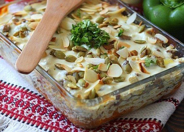 Рецепт                  Запеканка из тыквы с мясным фаршем
