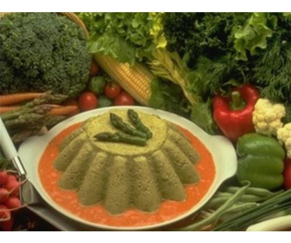 Рецепт                  Зеленый мусс из шпината с грибами