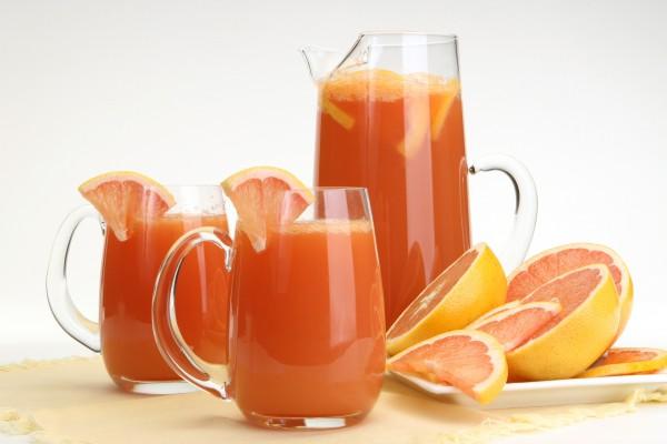 Рецепт                  Грейпфрутовый фреш с имбирем