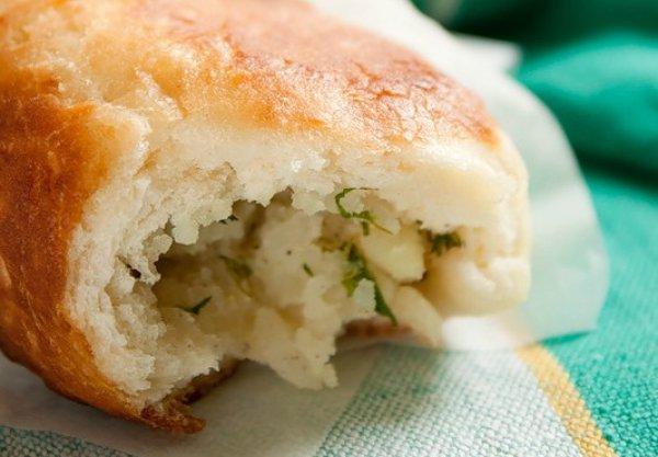 Рецепт                  Постный завтрак: Пирожки с картофелем