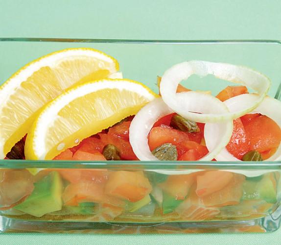 Рецепт                  Cалат из соленой рыбы с овощами