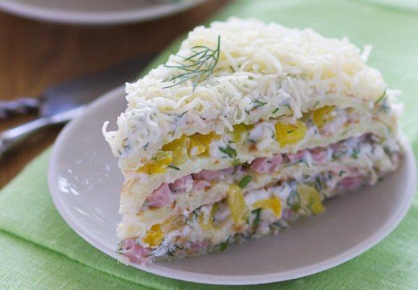 Рецепт                  Кабачковый торт с творожной начинкой