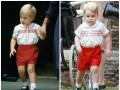 Принца Джорджа на крестины Шарлотты одели также, как когда-то его отца