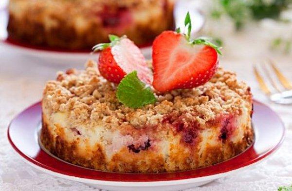 Рецепт                  Пирог с творогом и ягодами