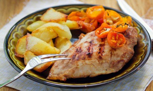 Рецепт                  Куриное филе на гриле в маринаде из соевого соуса