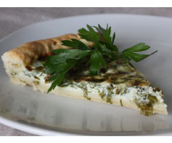 Рецепт                  Пирог с зеленью и сыром